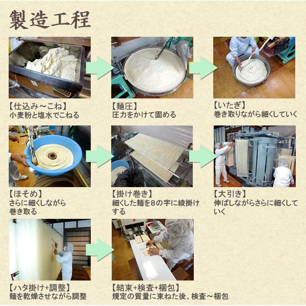 手延十六雑穀麺の製造工程