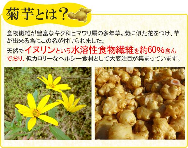 菊芋とは?イヌリンという水溶性食物繊維を約60%含んでおり、低カロリーなヘルシー食材として注目が集まっています。