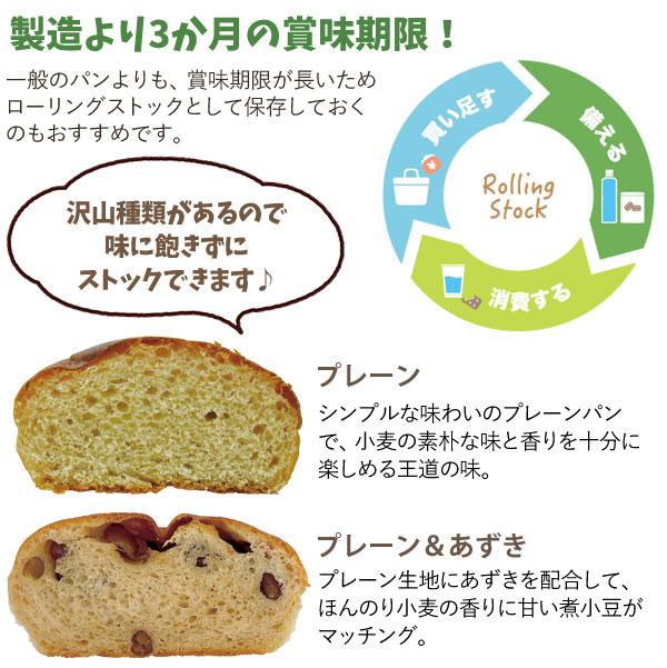 賞味期限が長いパンなのでローリングストック向けです