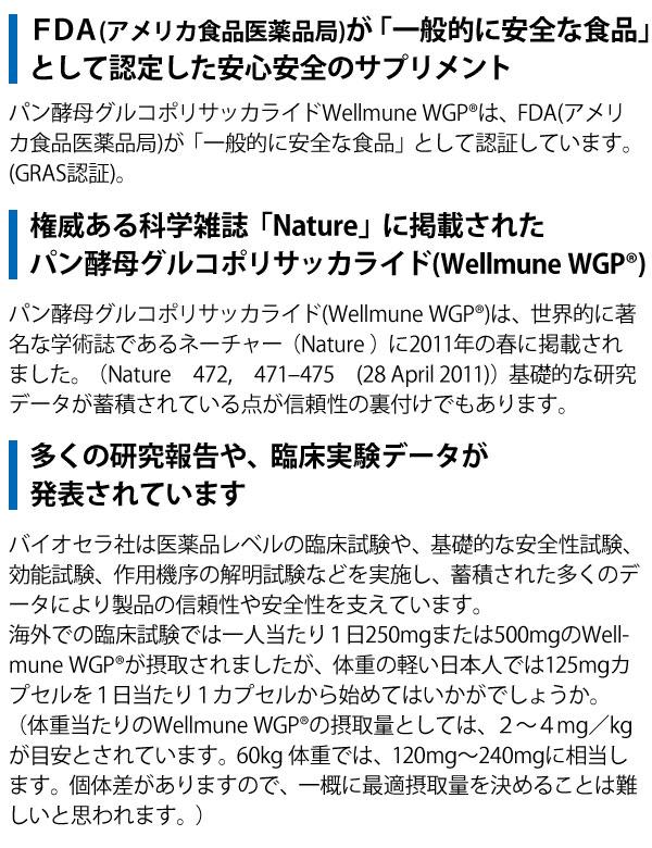 WellmuneWGPは、権威ある科学雑誌「Nature」に掲載され、他にも多くの研究報告や、臨床実験データが発表されています。