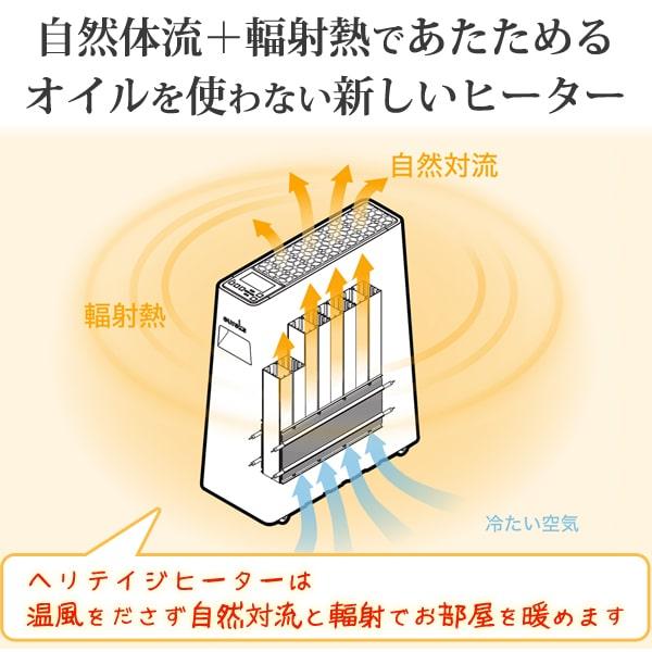 自然体流+輻射熱であたためるオイルを使わない新しいヒーター
