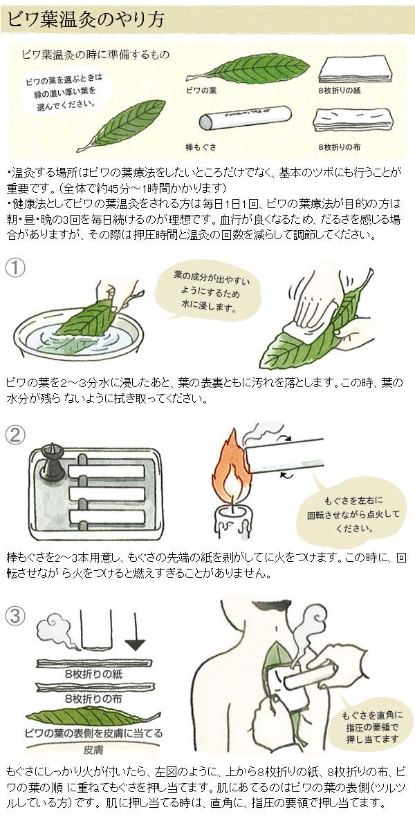 ビワの葉温灸のやり方