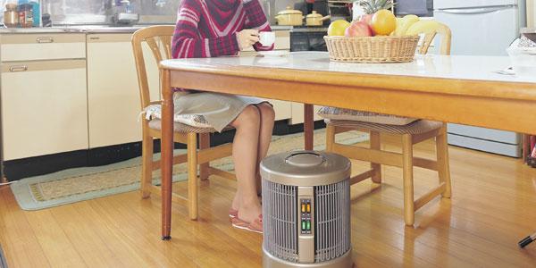 「暖話室」は360度全方向をあたためます